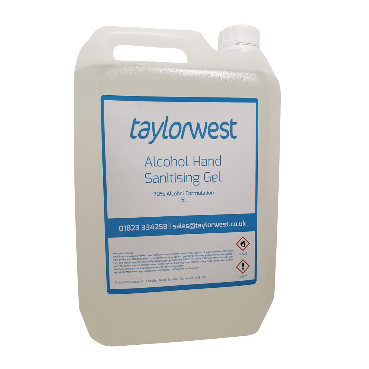 Alcohol Hand Sanitising Gel 5L Bulk Refill